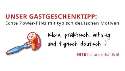 Gastgeschenketipp Power-PIN deutsche Currywurst
