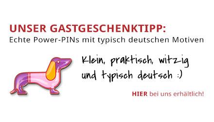 Gastgeschenketipp Power-PIN deutscher Dackel