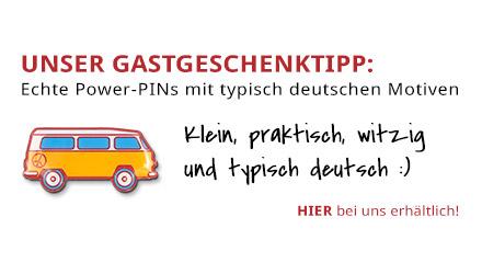 Gastgeschenketipp Power-PIN deutscher Transporter